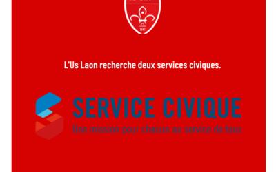 L'US Laon recherche deux services civiques